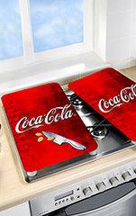WENKO Glasabdeckplatten-Set Coca-Cola
