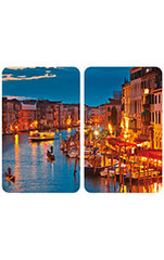 "Wenko Glasabdeckplatten-Set ""Venice by night"""