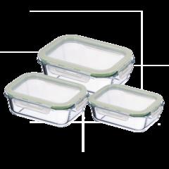 Glasbehälter-Set 3-teilig