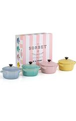 Le Creuset Mini-Cocotte Sorbet 4er-Set