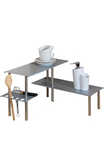 WENKO Küchenregal Harlekin Silber
